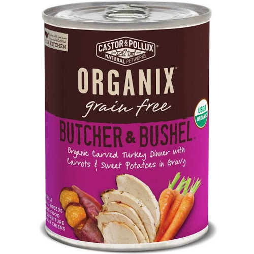 Organix Castor & Pollux Butcher & Bushel Organic Carved Turkey Dinner with Carrots & Sweet Potatoes Wet Dog Food