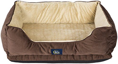 Serta Ortho Cuddler Pet Bed, Mocha