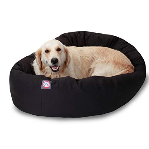 majestic pet products bagel bed, black, 40, dog beds
